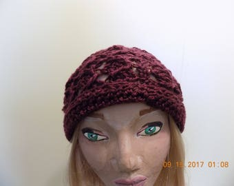 1702---Wine color beanie hat