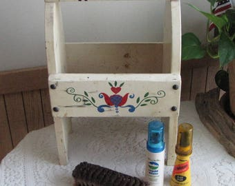 Shoe Shine Box Vintage Wooden Boxes and Storage Rustic Farmhouse