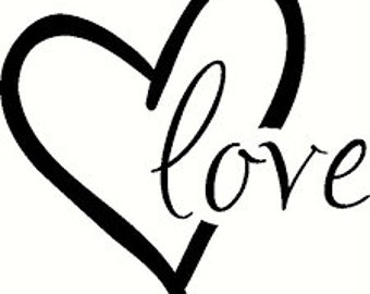 love heart decal sticker April Sale..... won't last all month