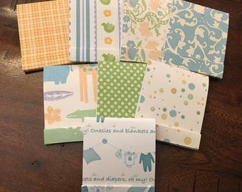 Baby Shower Matchbook Notepads, Boy Matchbook Notepads, Baby Boy Matchbook Notepads, Baby Shower Favor, Shower Favor, Matchbook Notecards