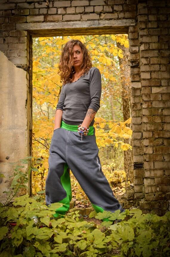 Sweatpants pants Colored trousers pants Gray cotton women drop baggy sweatpants plus Gray gray crotch sizes for pants for men Green XqgxB1rwX
