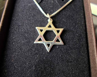 Star of David necklace quarter size