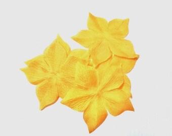 4 FLOWERS PONGEE SILK ORANGE SHAPED 55 MM