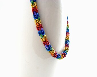 ON SALE True Colors Braid Chainmaille Necklace