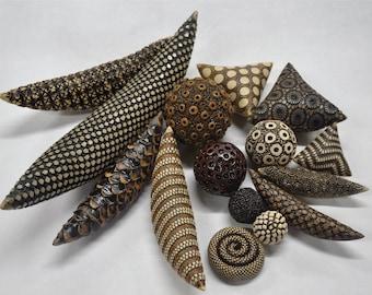 Assortment of ceramic rattles