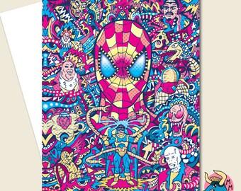 Spiderman Card, Birthday Card, Marvel Card, Superhero Card, Boys Card, Boyfriend Card, Card For Him, Husband Card, Greeting Card, Men Card.