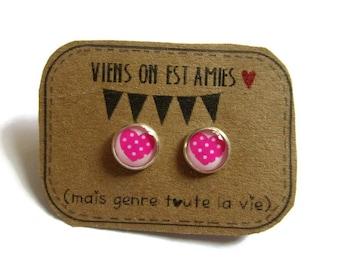 Girl earrings - Best Friends fox Stud earrings - best friend birthday - Friendship studs for Toddlers - Best Friends Forever - bff