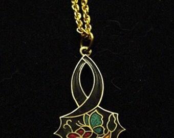 Flower Cloisonne Pendant Necklace