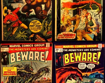 BEWARE! 4 Comic Set (Issues #1, 6, 7, and 8)