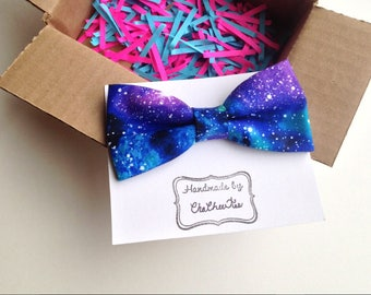 Galaxy Bow Tie. Self tie. Pre tied. Science Bow Tie. Stars Bow Tie. Space Bow Tie. Galaxy Wedding. Galaxy Pocket Square Space Themed Wedding