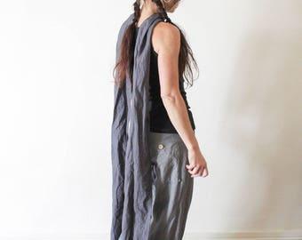 Super long linen scarf