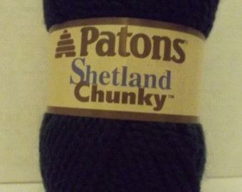 Patons Shetland Chunky ~ Wool Blend ~ Rich Teal ~ #5 Bulky ~ 100 grams ~ 148 Yards