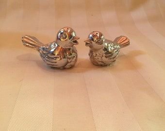 Pewter Birds Salt and Pepper Shakers