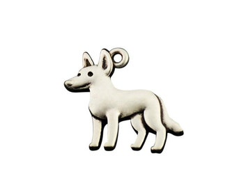 Australian Cattle Dog Charm, Australian Cattle Dog Jewelry, Silver Plated Cattle Dog Charm, Charm for Australian Cattle Dog