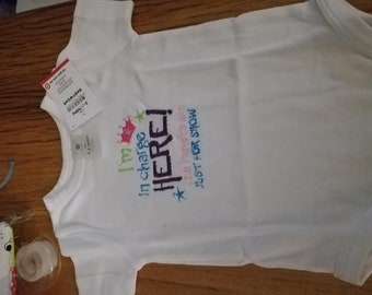cute I'm in charge onsie/bodysuit size 3-6mths