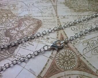 2 Delicate Necklace-silver color--51 cm-