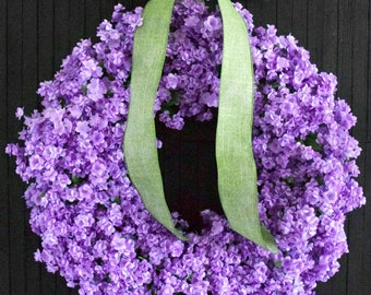 Lavender Ruffle Flower Front Door Wreath - 24 inch diameter