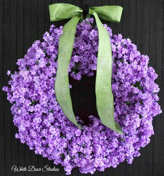 Lavender Ruffle Flower Front Door Wreath