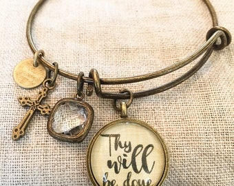 Thy Will Be Done Bangle Bracelet