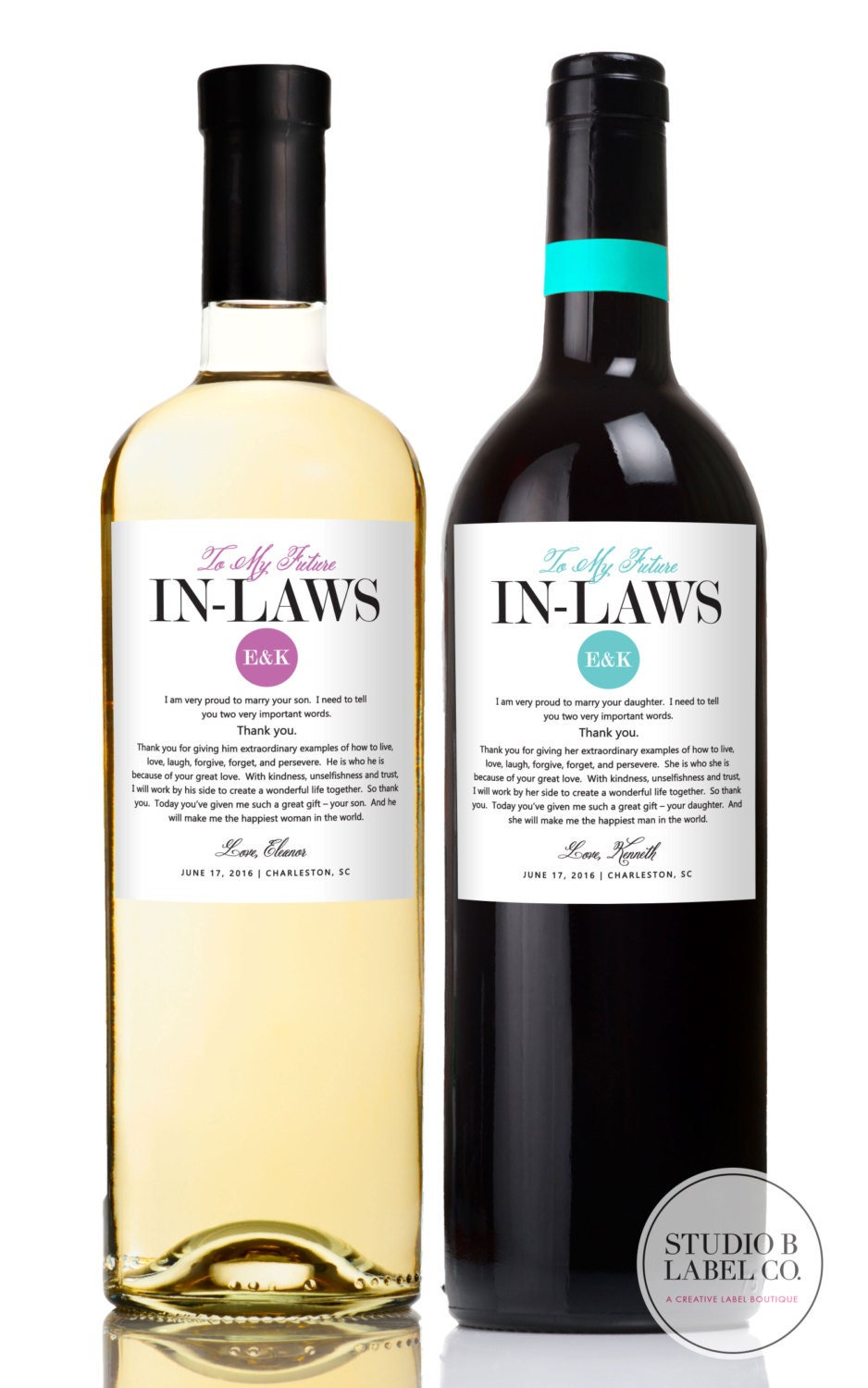 Wedding Gifts For Parents Wine Labels Wedding Wine Labels