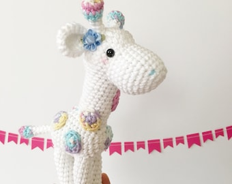 Kawaii Giraffe Gift Crochet Doll Stuffed Animal Amigurumi Giraffe Plush Crochet Giraffe Nursery Decor Birthday Gift Kids Gift Baby Shower