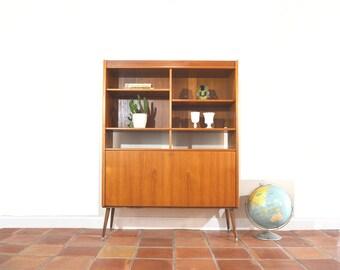 Danish Modern Hutch / Bar / Liquor / Bookcase Cabinet
