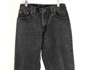 Vintage 550 Women's Levi's Faded Black Denim Jeans