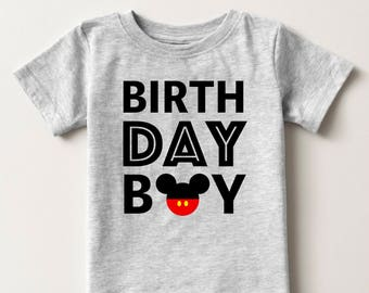 Personalized Birthday Boy T-Shirt - Personalized Disney Inspired Shirt - Mickey Mouse Inspired Birthday Party
