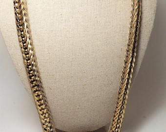 1980s Vintage Accessocraft NYC Gold Chain Statement Runway Necklace Belt Jeweled Medallion Buckle SMALL