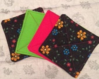 Fabric Coasters coordinating Set of 4