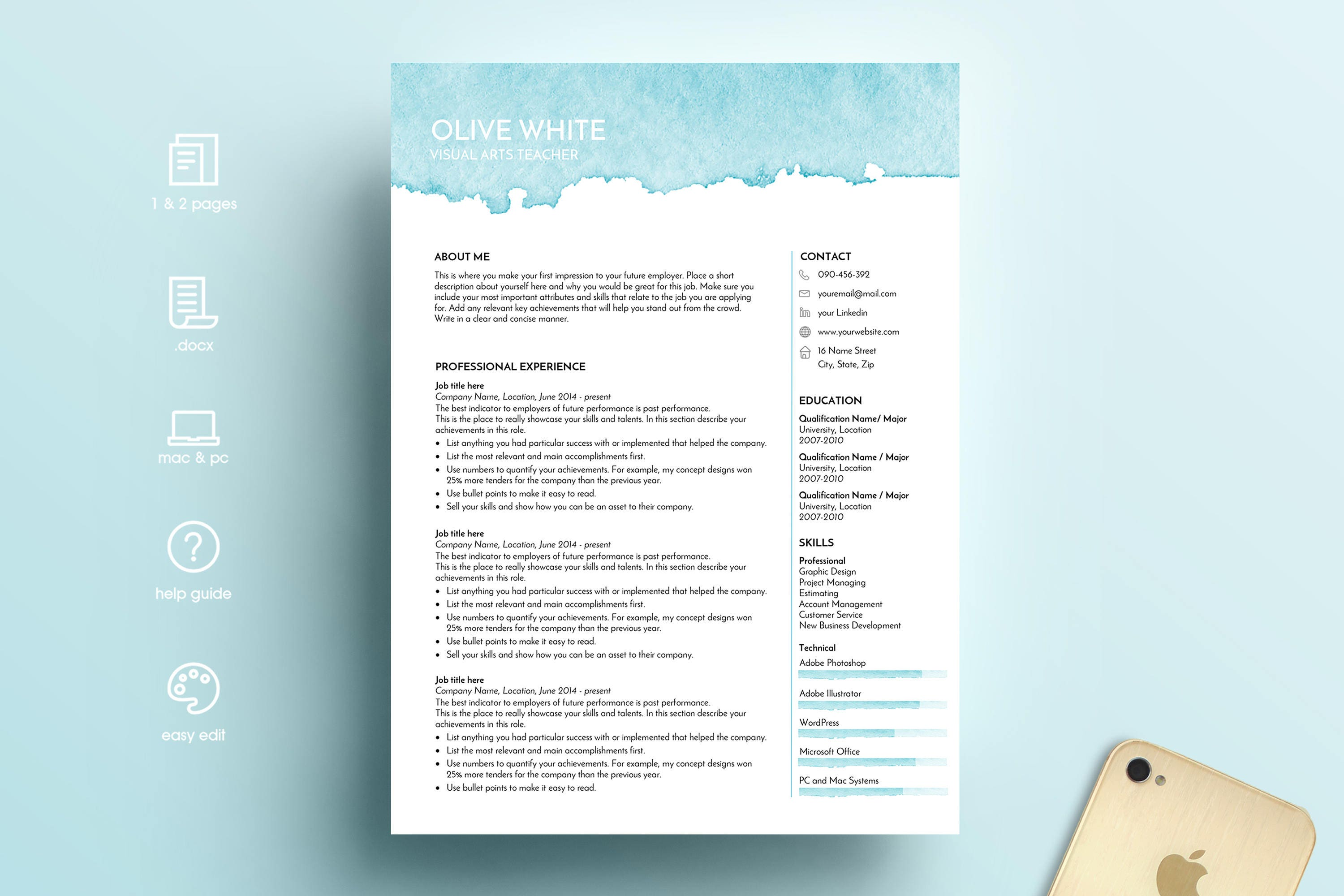 Nett Kreative Lebenslauf Vorlagen Docx Ideen - Entry Level Resume ...