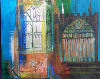 a 'nod' to John Piper's Coventry Cathedral
