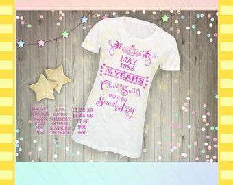Sassy quotes, sassy birthday, sassy shirt, svg sassy, sassy women shirts, classy woman, classy shirt, milestone month, milestone year