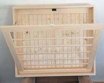 ON SALE Unfinished Drying Rack Laundry Drying Rack Wall Drying Rack Laundry Room Small Drying Rack Laundry Storage Wood Drying Rack