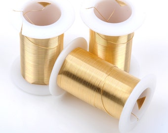 Gold CRAFT WIRE, Tarnish Resistant Craft Wire, wire wrapping, 20 gauge, 20 ga gold wire, Bead Smith Wire, 15 yards (45 feet) spool wir0032