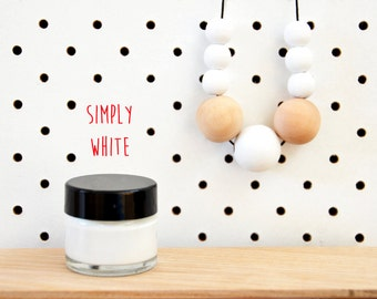 Wood Paint  - Simply White - 15ml jar - 10 Beautiful Colours Available.