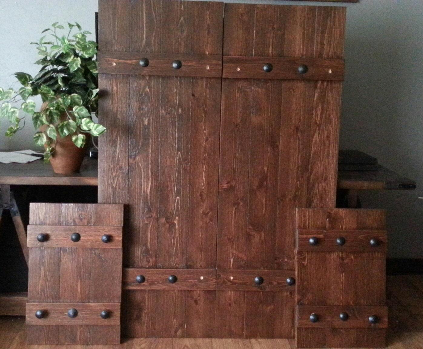 48 Rustic Wood Shutters Primitive Shutters Decorative