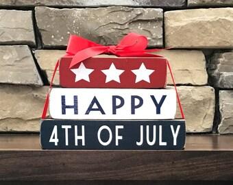 "4th of July blocks--Happy 4th of July ""MINI"" stacker blocks"