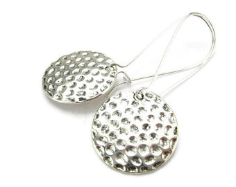 GOLFING EARRINGS, 925 Silver Kidney Wires, Golf Balls, Golf Champion, Golfing Instructor, Golf Player's Jewelry, Handmade Gift Under 20