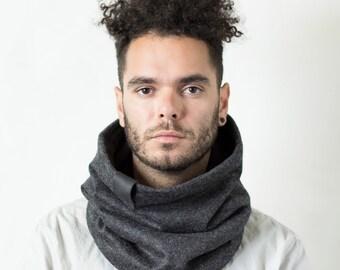 Mens scarf gift men winter scarf wool scarf men Snock mens winter scarf men