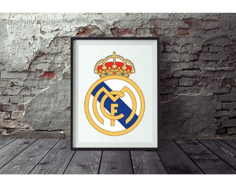 Real Madrid  Poster no FRAME  included  (Next day FREE Shipping within the USA)