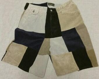 Corduroy Patchwork Shorts sz 32