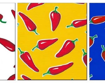 OilclothByTheYard   Red Hot Chili Pepper  Your Choice by the Yard