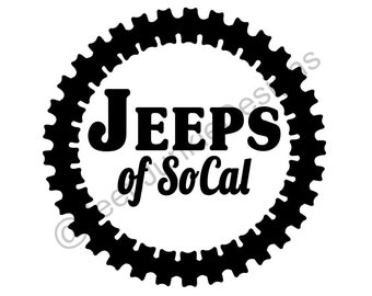 Jeeps of SoCal Vinyl Decal