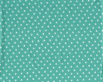 Turquoise Polyester Crepe Fabric 2 Yards