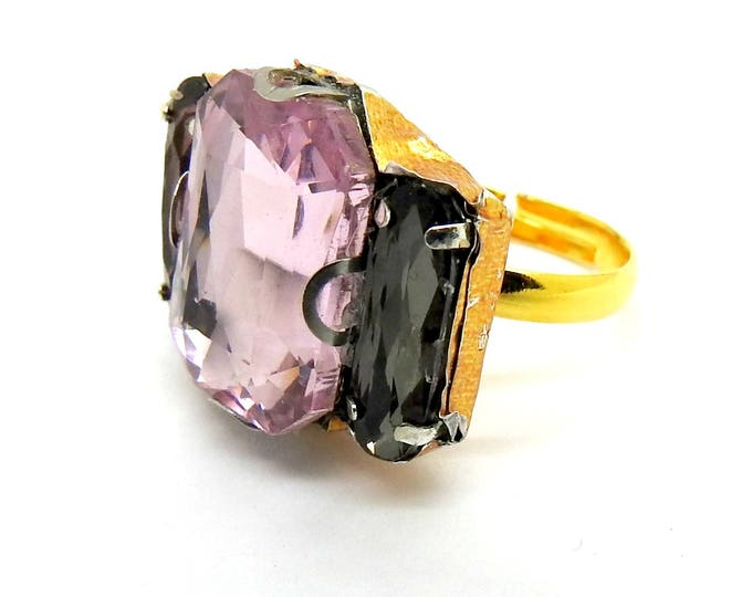 PURPLE cocktail RING wow JEWELRY