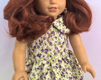 """Custom 10-11"""" Doll Wig Fits Most 18"""" Dolls, Blythe, 1/4 Sized Dolls and More """"Fire Posy"""" Heat Safe"""
