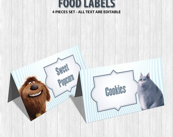 The Secret Life of Pets Food Labels