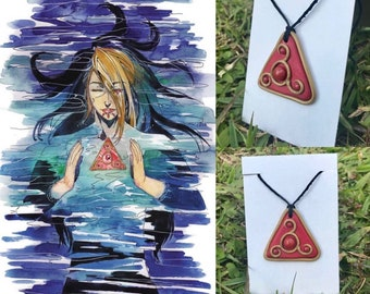 Handmade One of a Kind Crimson Blood Pendant Necklace