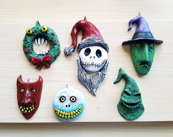 Full set of 6 Nightmare before Christmas ornaments